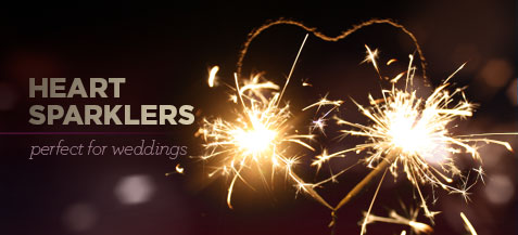 Heart Sparklers - Perfect for Weddings!