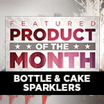 Featured Product of the Month - Bottle & Cake Sparklers