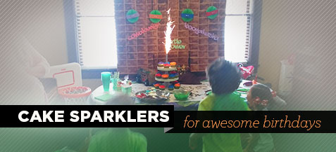 Cake Sparklers: For Awesome Birthdays