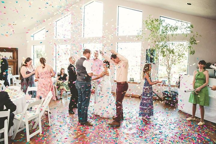 spring wedding confetti