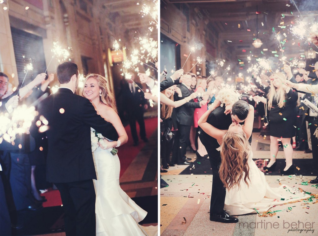 Rachael & Bobby's Wedding Sparkler Send-Off with Confetti | Photo by Martine Beher Photography