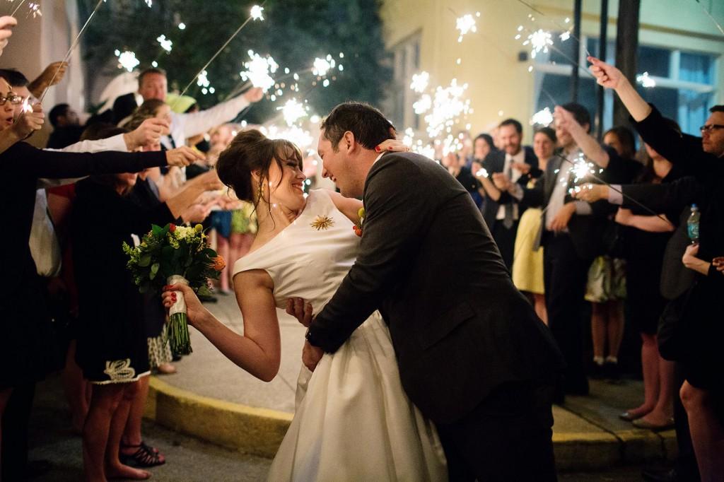 Katie & Dan's Wedding Exit | Photo by Christina Karst Photography