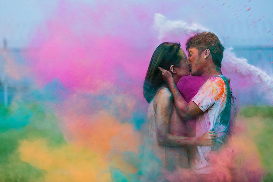 color powder engagement