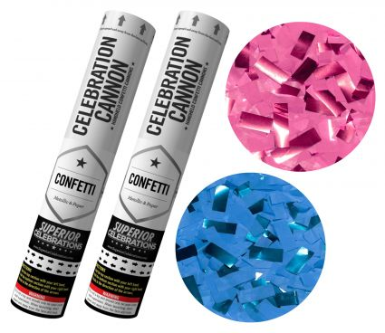 Gender Reveal Confetti Cannon Kit