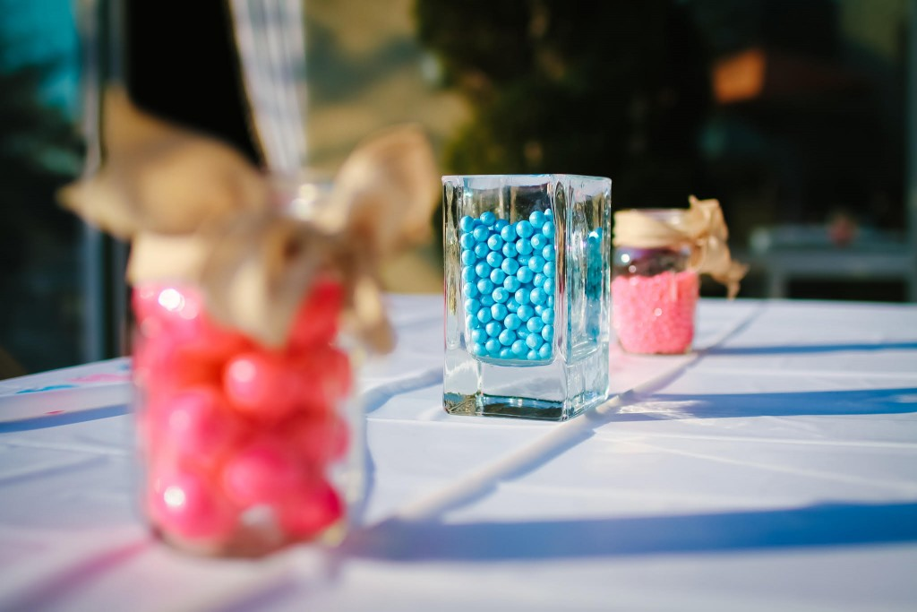 Gender Reveal Table Decor