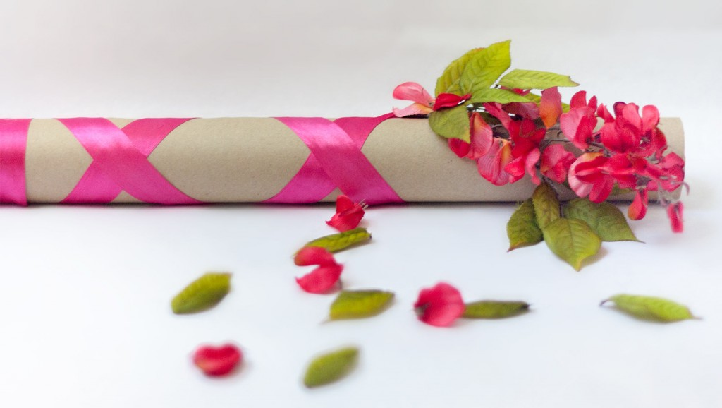 Floral Decorated Confetti Cannon