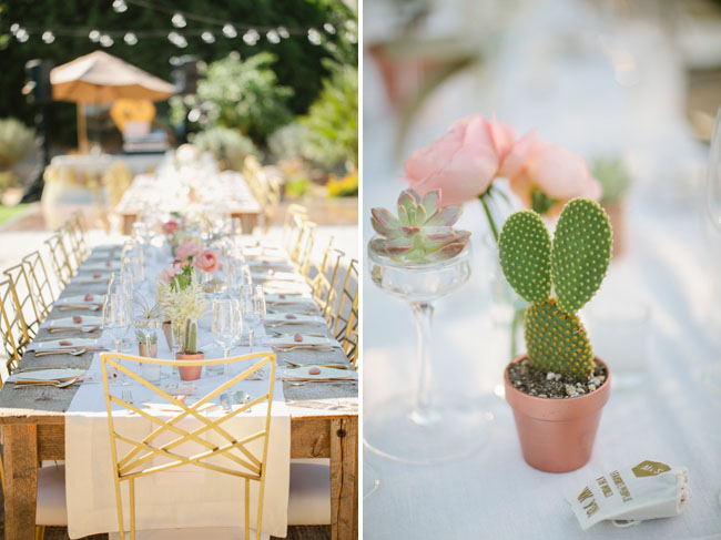 palm springs wedding cactus