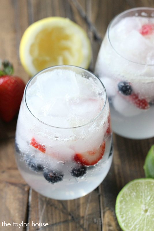 Strawberry Blueberry Limeade