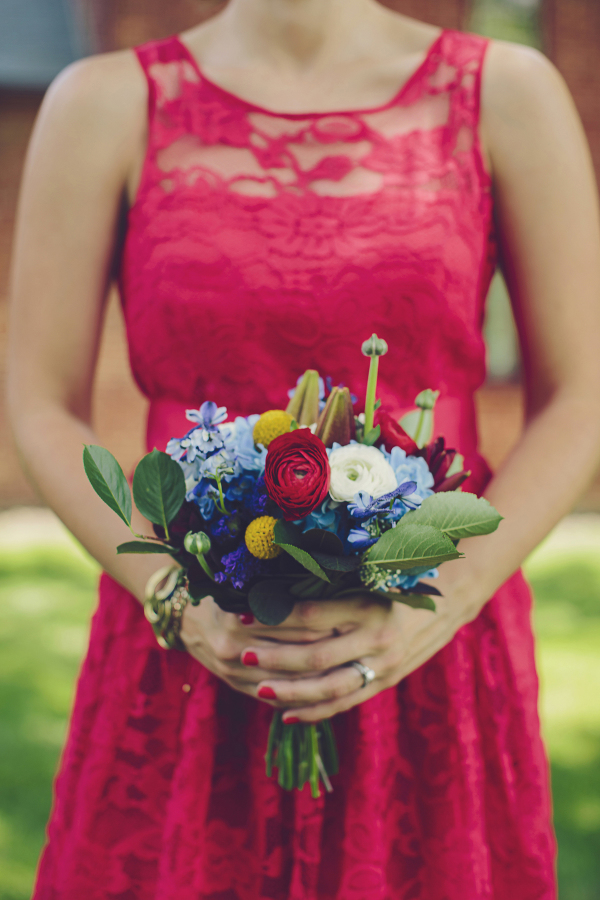 4th of July themed wedding flowers