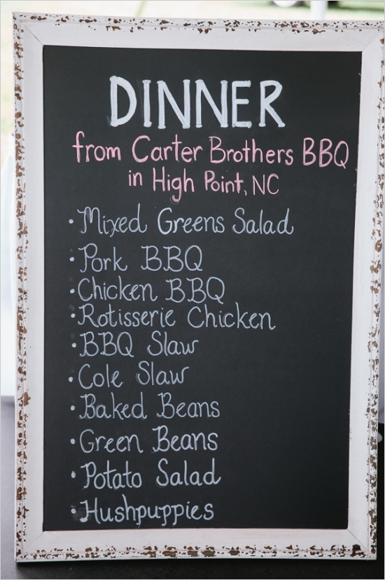 Food to serve at a July 4th wedding