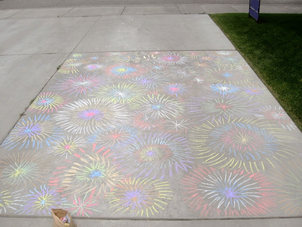 July 4th activities for kids: chalk!