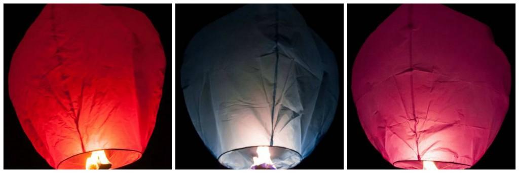 Diwali sky lanterns