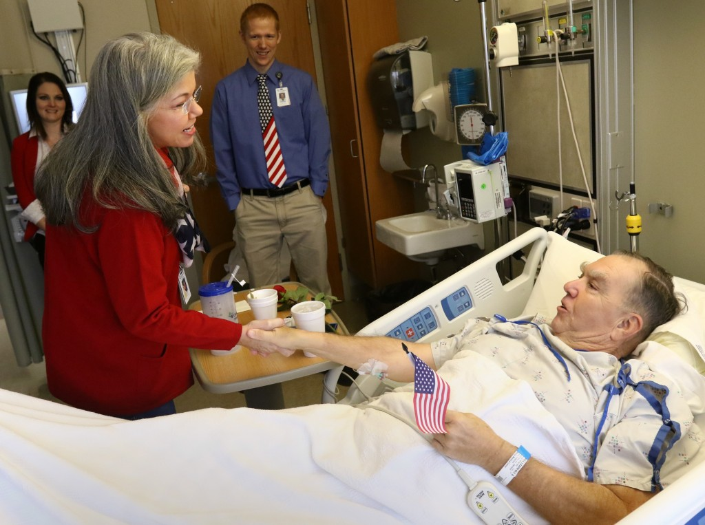 Visit a hospital on Veteran's Day