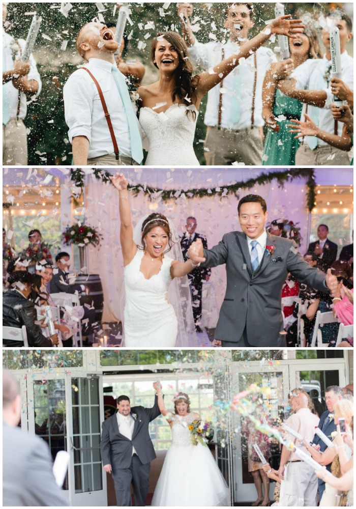 Top: Taylor and Kip by Bethany Small Photography; Middle: Ha and Robert by Something Blue Wedding Photography; Bottom: Adrianne and Matt by Amanda Brisco Photography