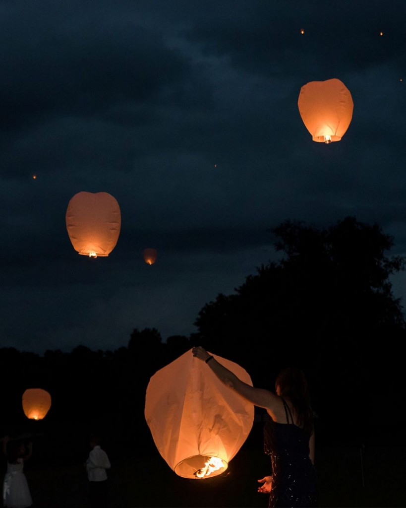 Sky Lanterns for a wedding