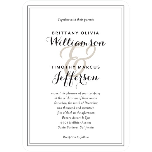 Wedding invitation available at Wedding Paper Divas