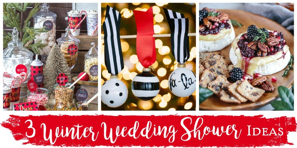 3 Winter Wedding Shower Ideas