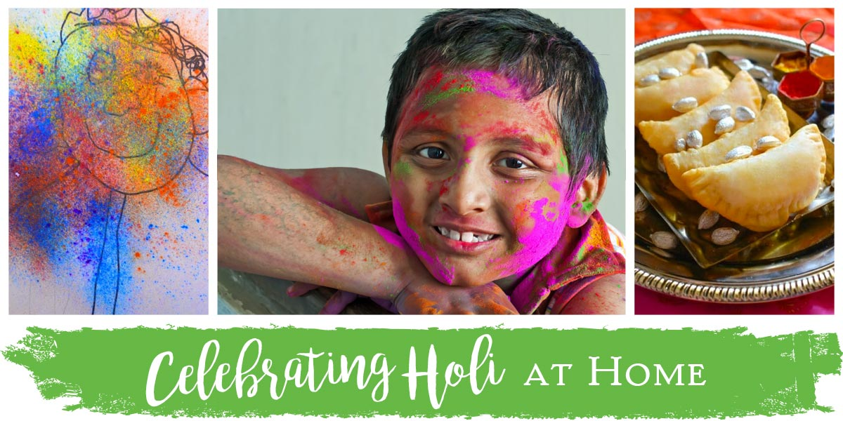 Celebrating holi at home superior celebrations blog for Holi decorations at home