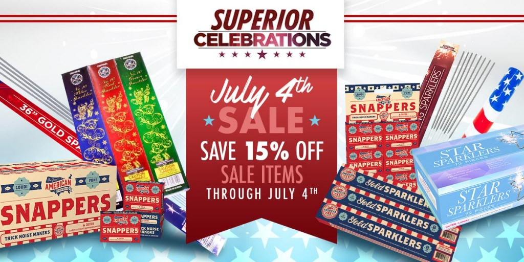July 4th Sale at Superior Celebrations