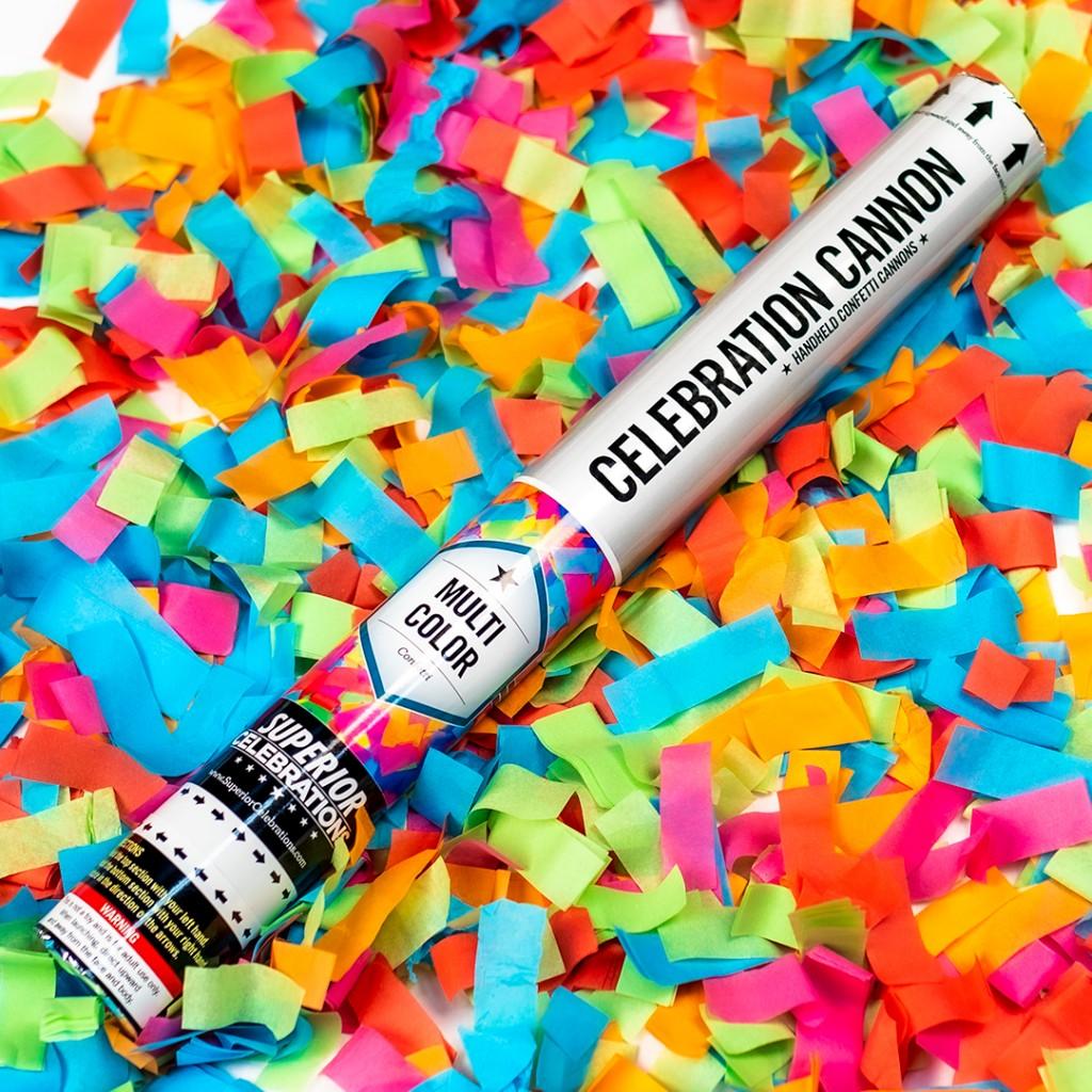 Multi-Color Confetti Cannon