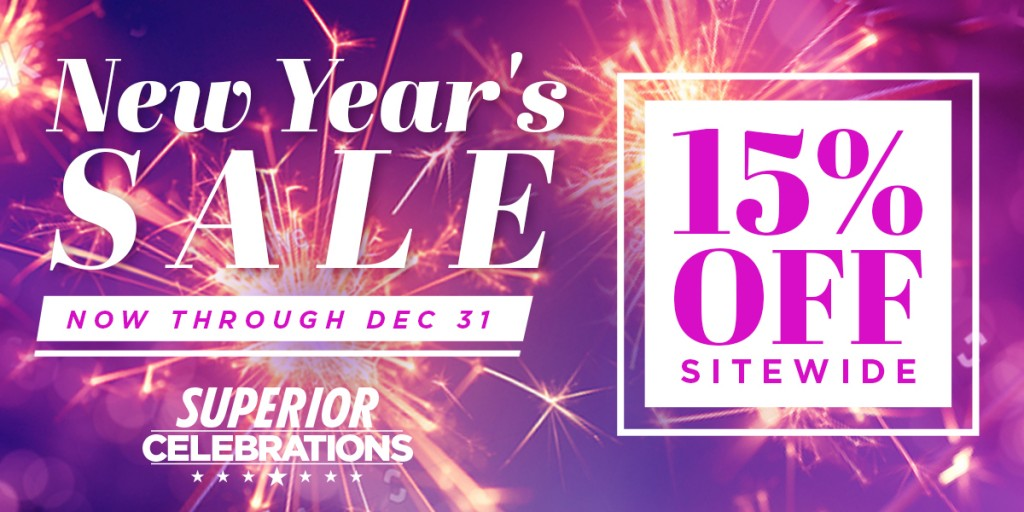 New Year's Sale: 15% Off Sitewide